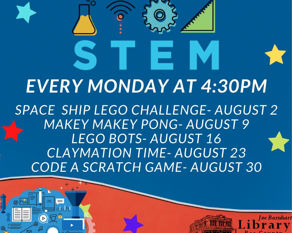 August 2021 STEM Mondays